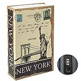 Parrency Buchsafe mit Zahlenschloss, versteckter Safe Lock Box, groß, Medium, 22 x 15 x 3.8 cm - Medium, Newyork, SBH-MM-M008