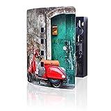 banjado Design Schlüsselkasten aus Edelstahl | 10 Haken für Schlüssel | praktischer Magnetverschluss | 24x21,5cm Motiv Italienischer Roller