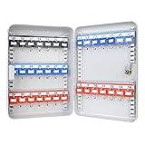 HMF 13035-07 Schlüsselkasten 35 Haken verstellbare Hakenleisten, 32,0 x 23,0 x 7,5 cm, lichtgrau