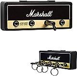 RAINBEAN Schlüsselhalter, Jack II Rack 2.0 JCM800 Gitarre Schlüsselanhänger Haken Wandhalterung mit 4 Gitarrenstecker Schlüsselanhänger