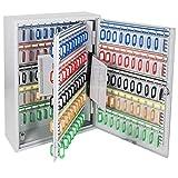 HMF 135200-07 Schlüsselschrank 200 Haken verstellbare Hakenleisten, 55,0 x 38,0 x 14,0 cm, lichtgrau