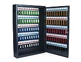 Pavo 8047222 Deluxe Schlüssel-Kasten/Schrank/Tresor, 100 Haken mit seitlichem Schlüsseleinwurf, dunkelgrau